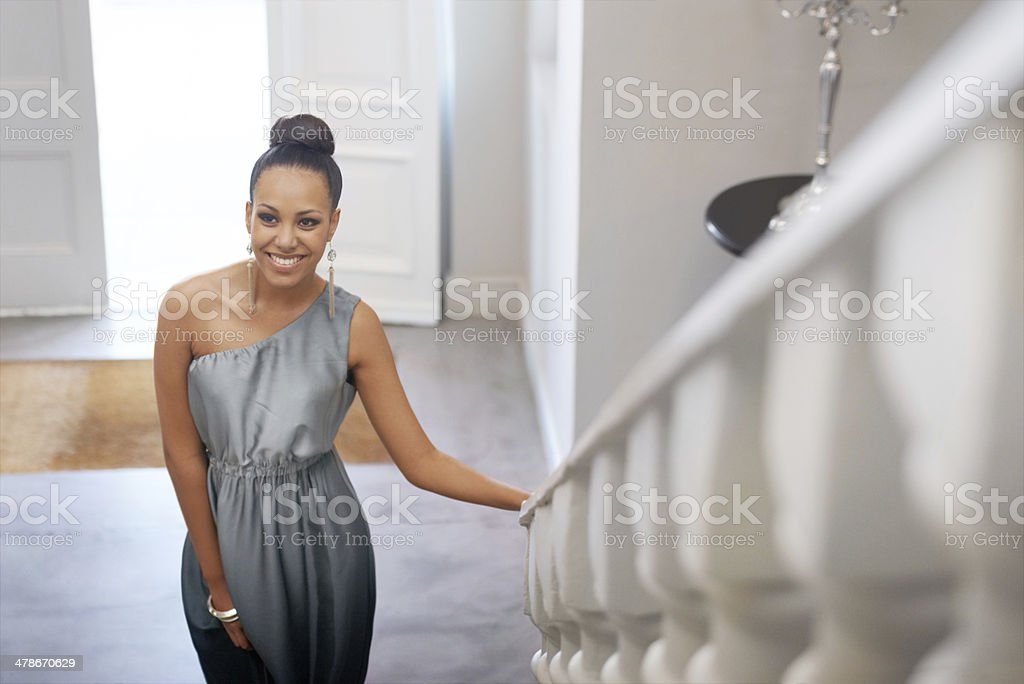 She's a vision stock photo