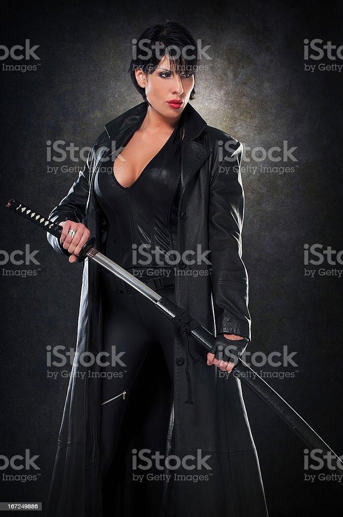 She`s a Warrior stock photo
