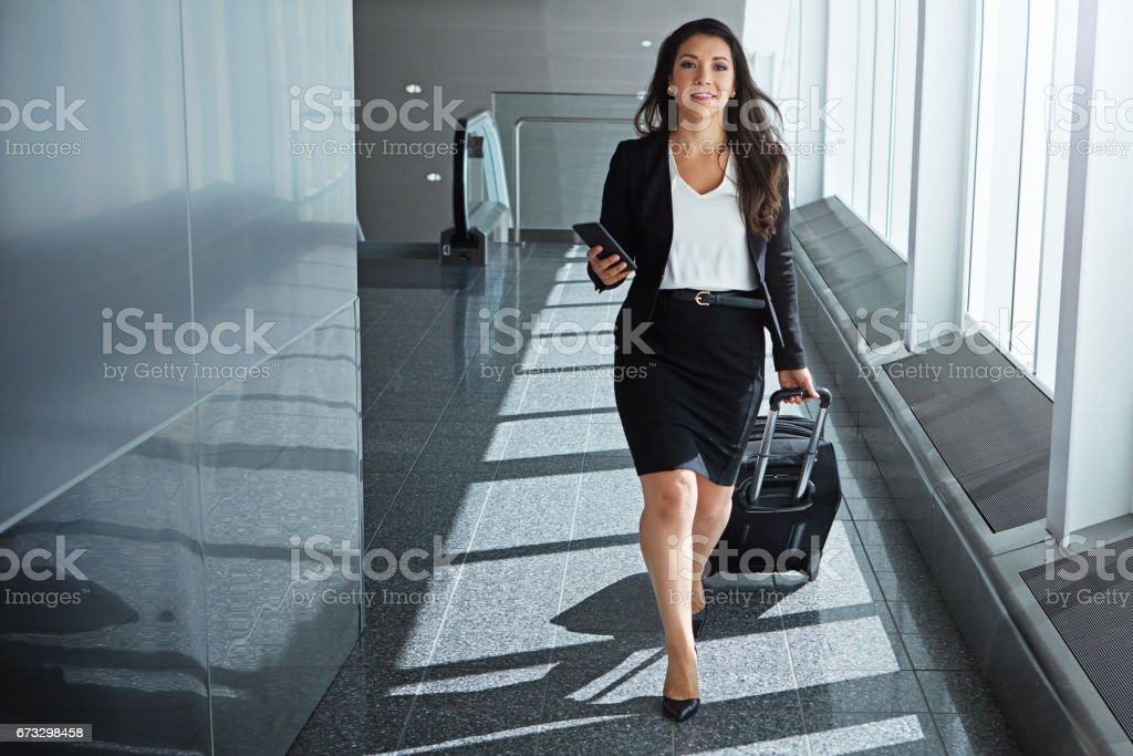 She's a young jet setter royalty-free stock photo