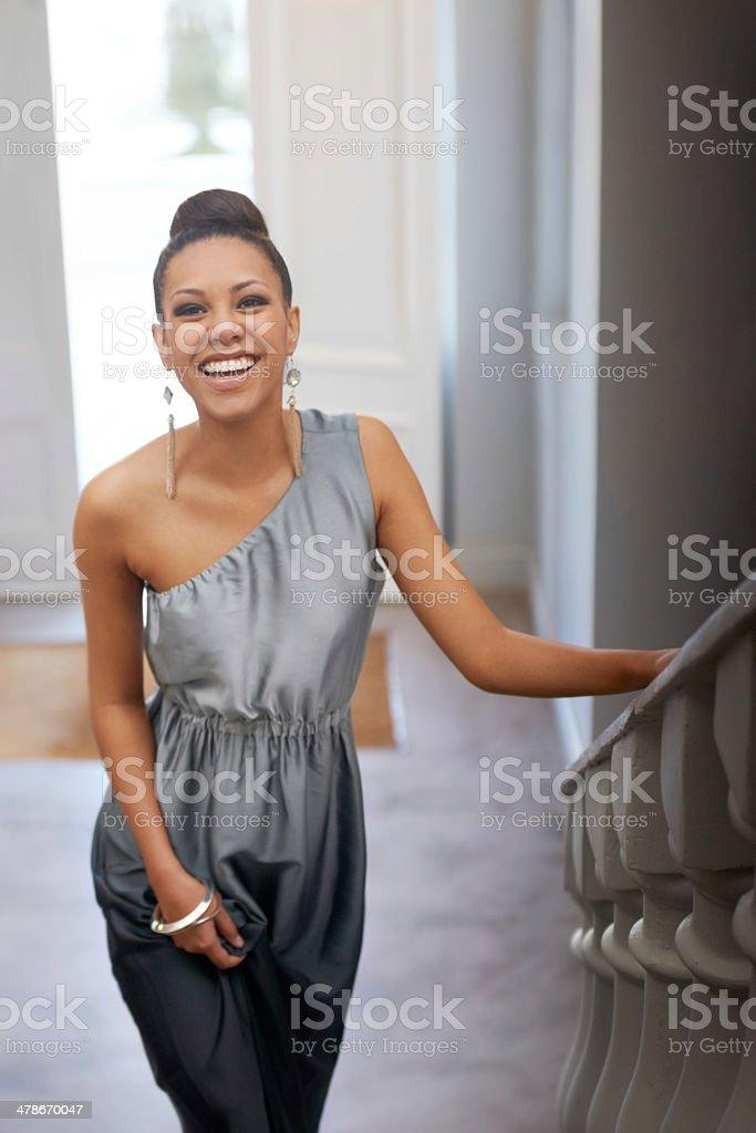 She's all elegance stock photo