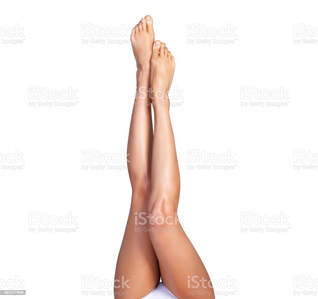 She's all legs stock photo