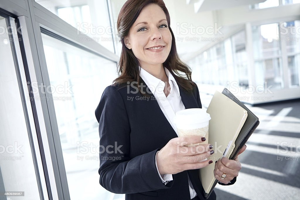 She's always prepared to do business stock photo