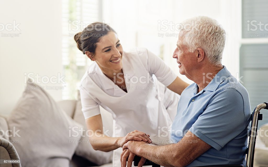 She's always there with a helping hand stock photo