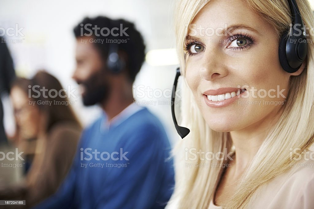 She's amazing at what she does royalty-free stock photo