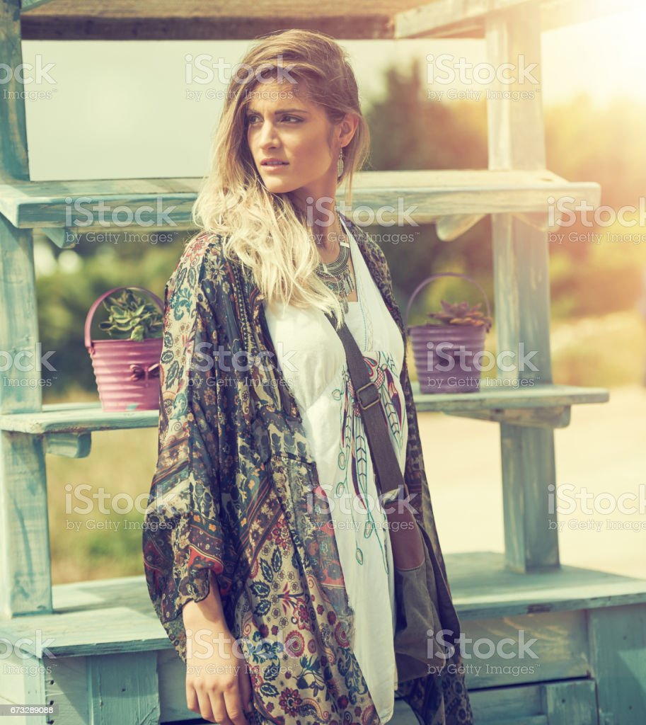 She's an untamable spirit royalty-free stock photo