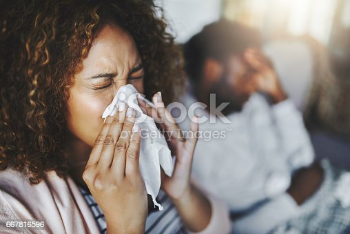 istock She's been sneezing non-stop 667816596