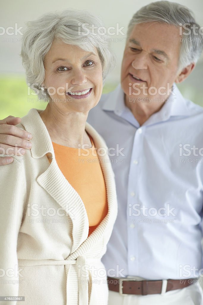 She's blissfully happily in her retirement royalty-free stock photo