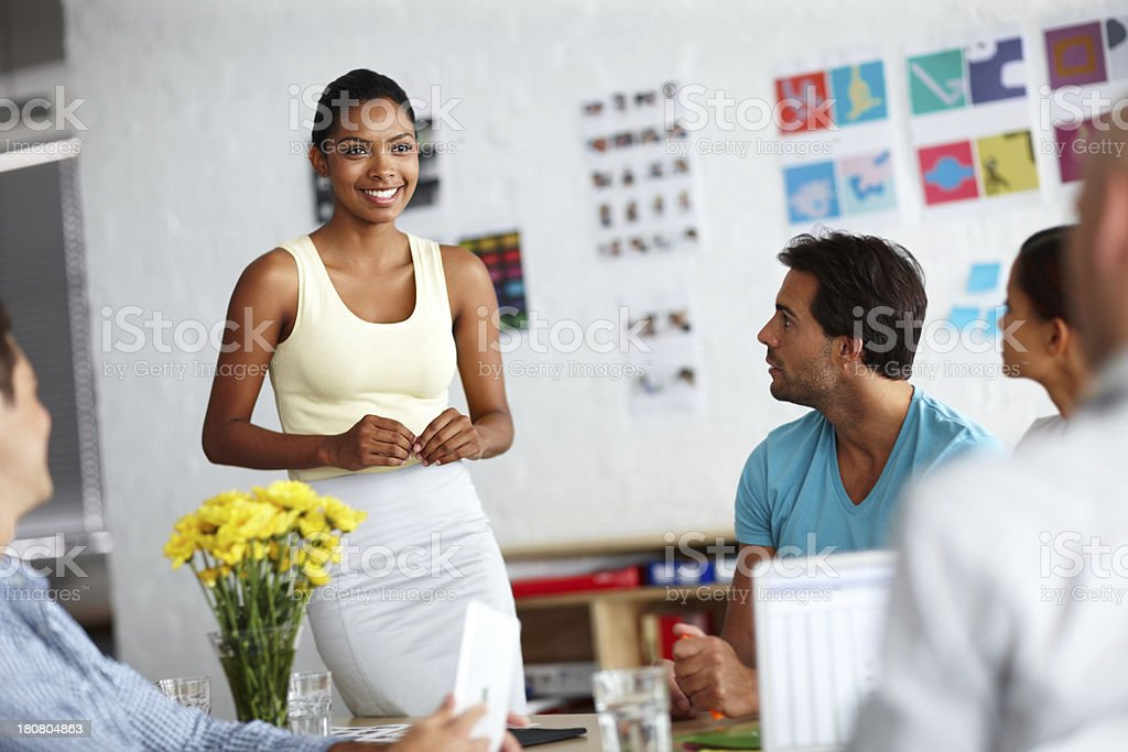 She's confident and capable royalty-free stock photo