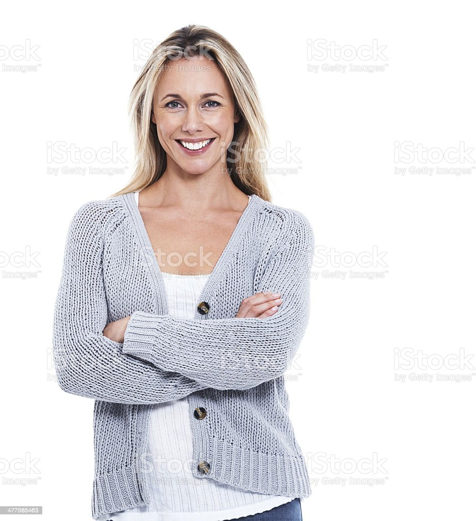 She's confident in herself stock photo