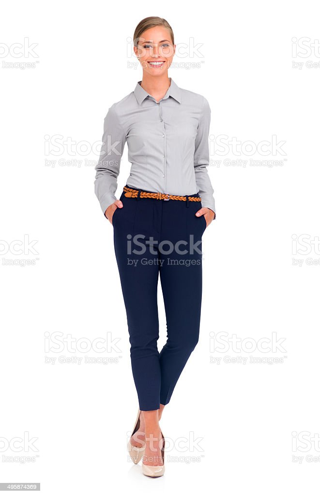 She's confident in the business world stock photo