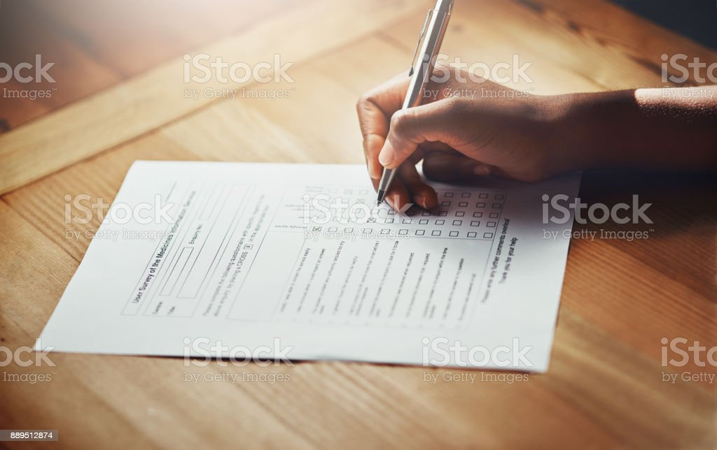 She's decided to sign on stock photo
