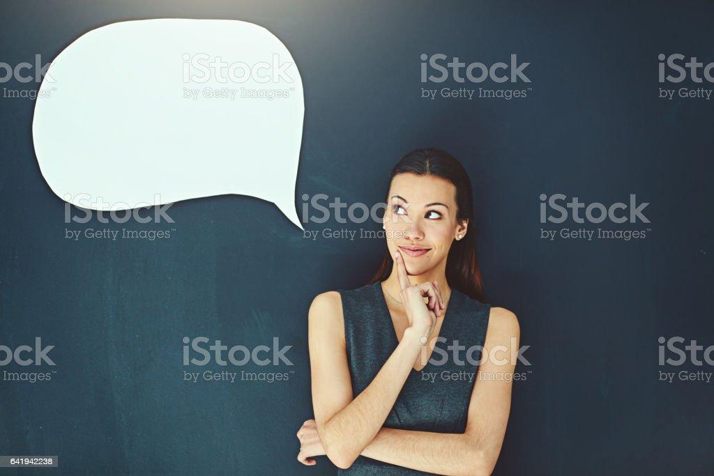 Ela está repleta de Ideias brilhantes - foto de acervo