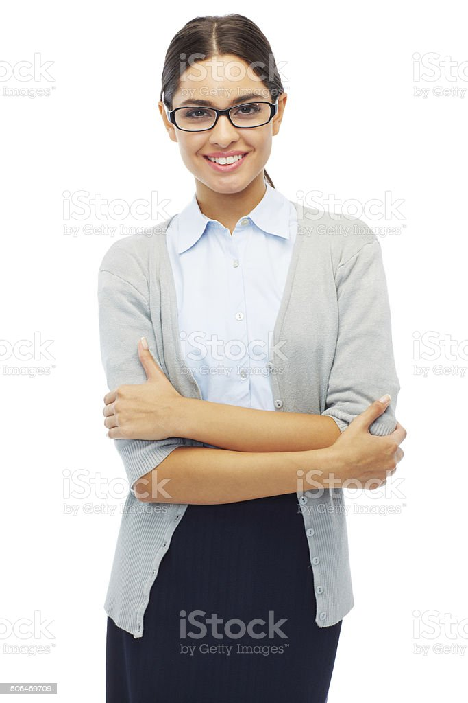 She's getting it done royalty-free stock photo
