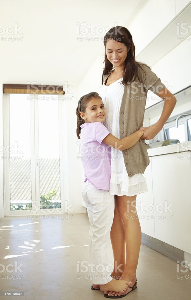 She's getting so tall royalty-free stock photo