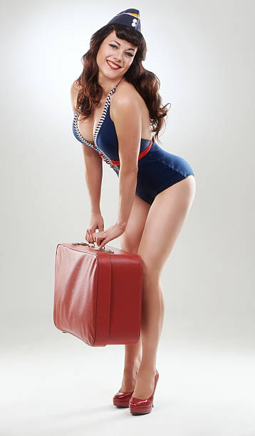 she's going places - pin up girl stock pictures, royalty-free photos & images