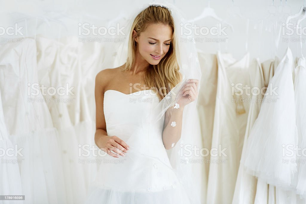 She's going to make a beautiful bride stock photo