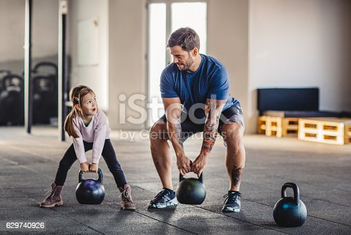 istock She's gonna be strong like daddy 629740926