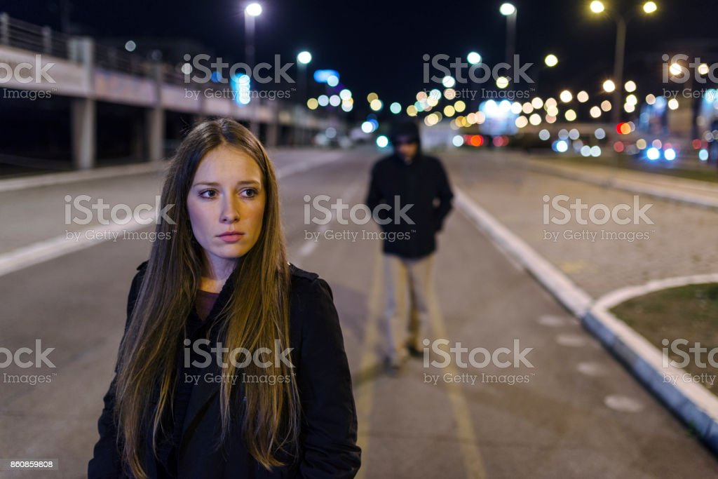 She's got a bad feeling stock photo