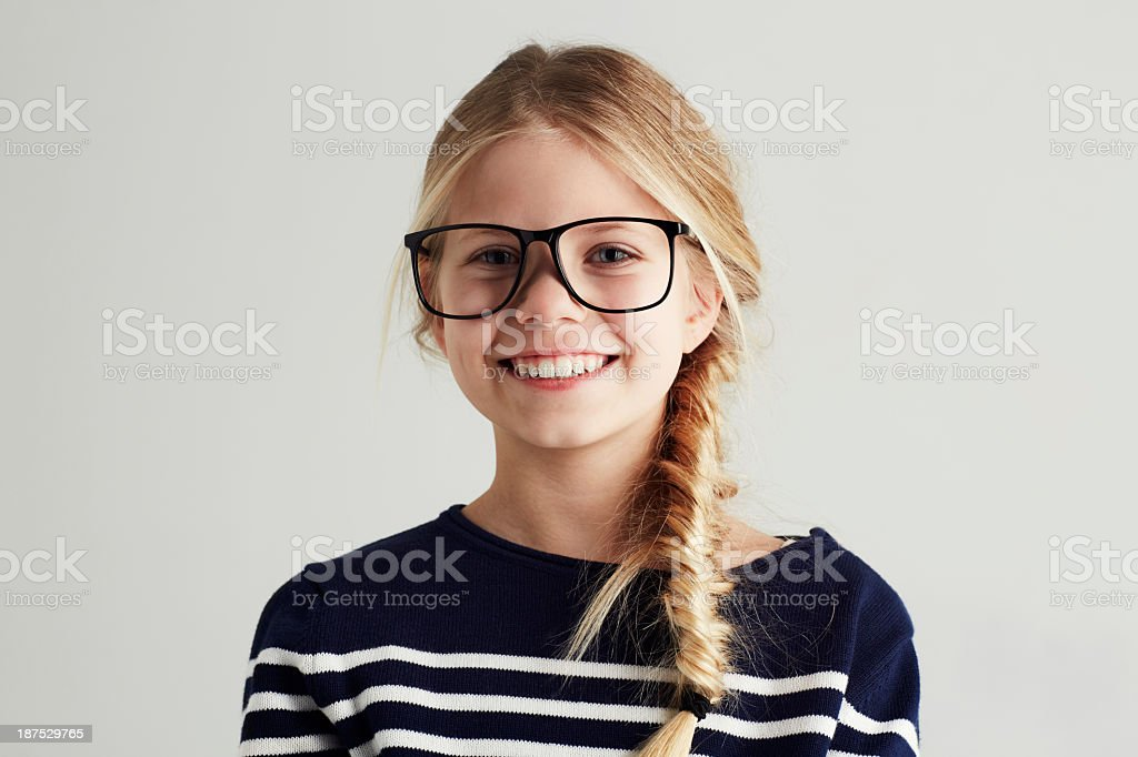 She's got a bright future ahead! stock photo