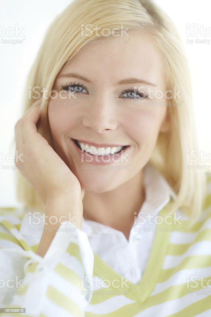 She's got a bright smile royalty-free stock photo