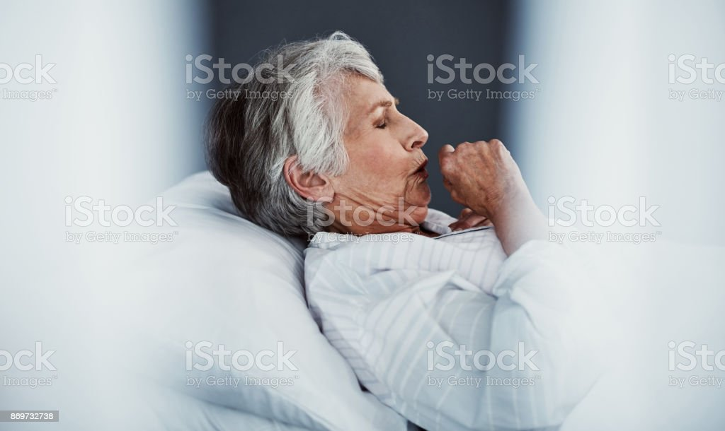 She's got a chest infection stock photo