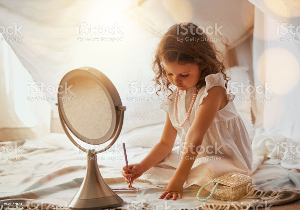 She's got a creative future ahead of her stock photo