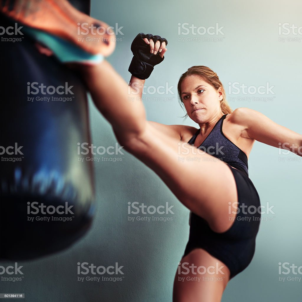 She's got a lot of fight in her stock photo