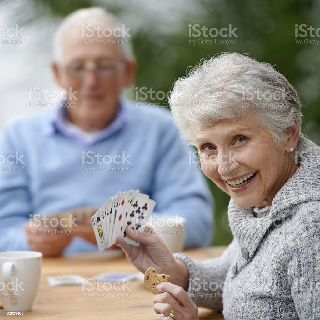 She's got a plan! stock photo
