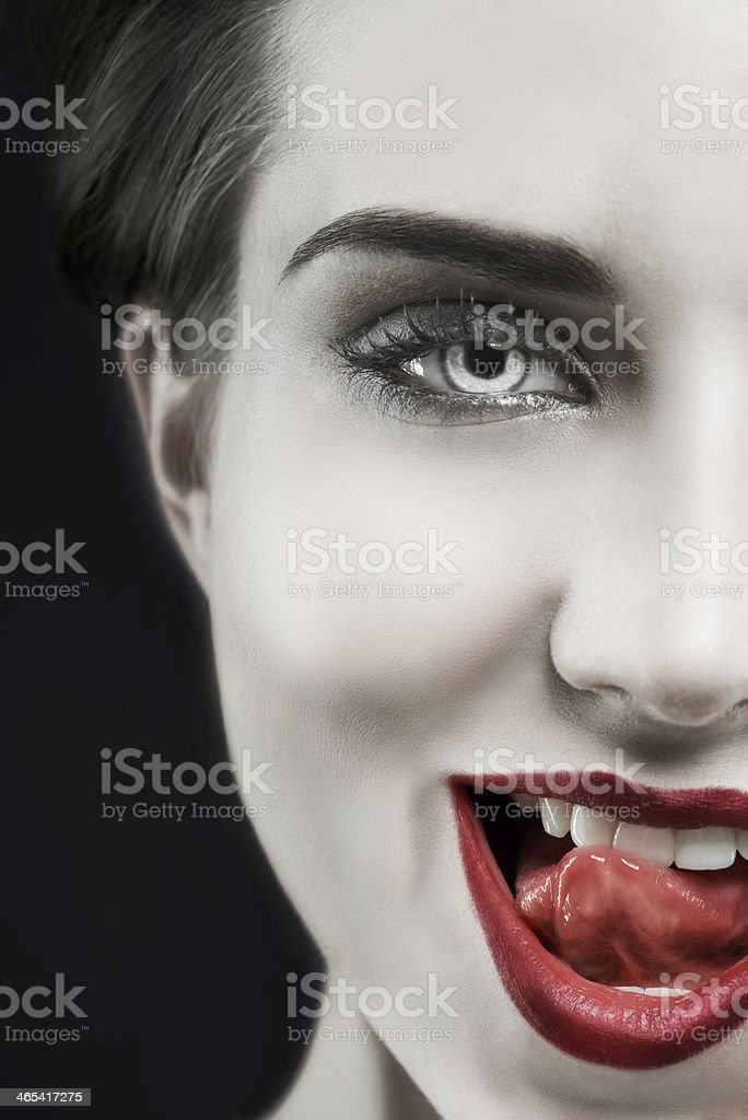 She's got a wicked side to her stock photo