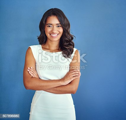 507896586istockphoto She's got all the attributes of a successful professional 507896680