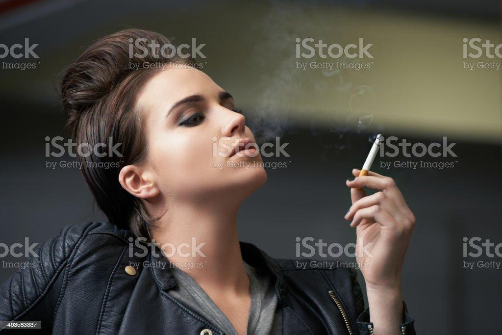 She's got an attractive attitude stock photo