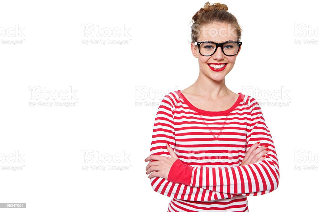 She's got an unlimited supply of confidence royalty-free stock photo