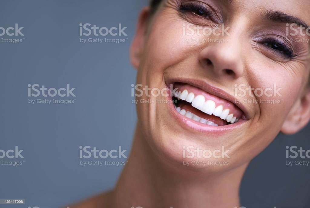 She's got beauty and confidence stock photo