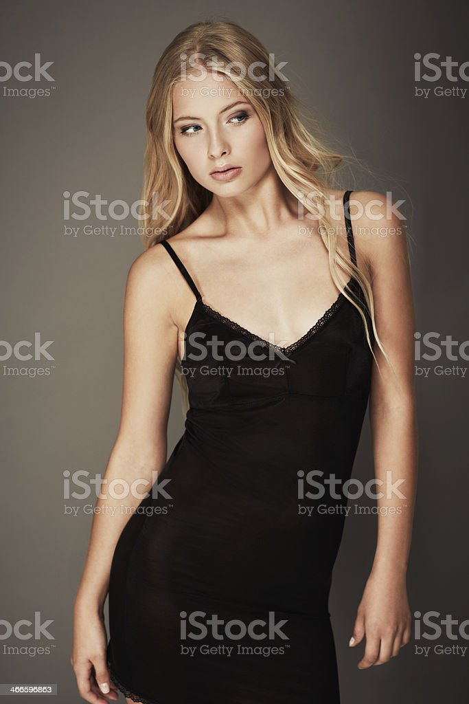 She's got her eyes on fashion stock photo