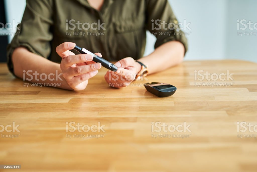 She's got her health under control stock photo