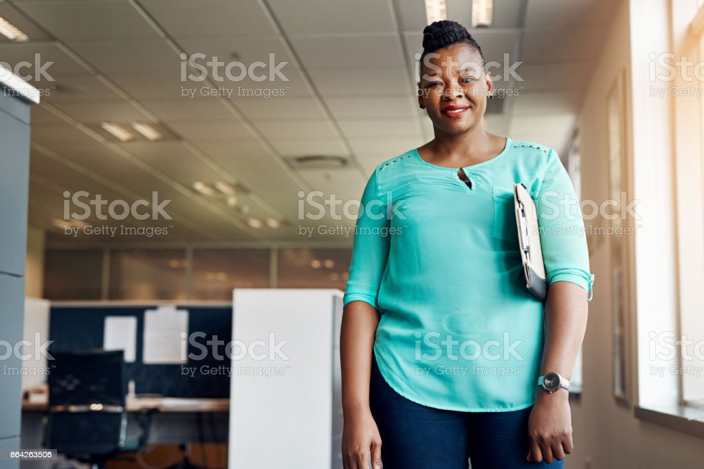 She's got it all, experience and ambition royalty-free stock photo