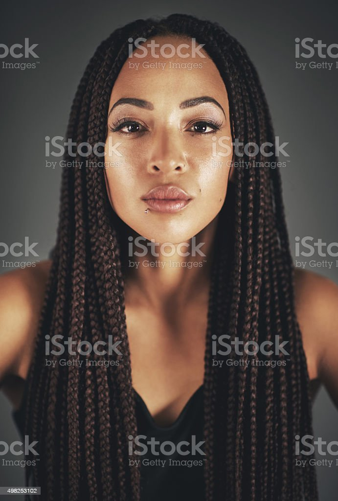 She's got it glowing on stock photo