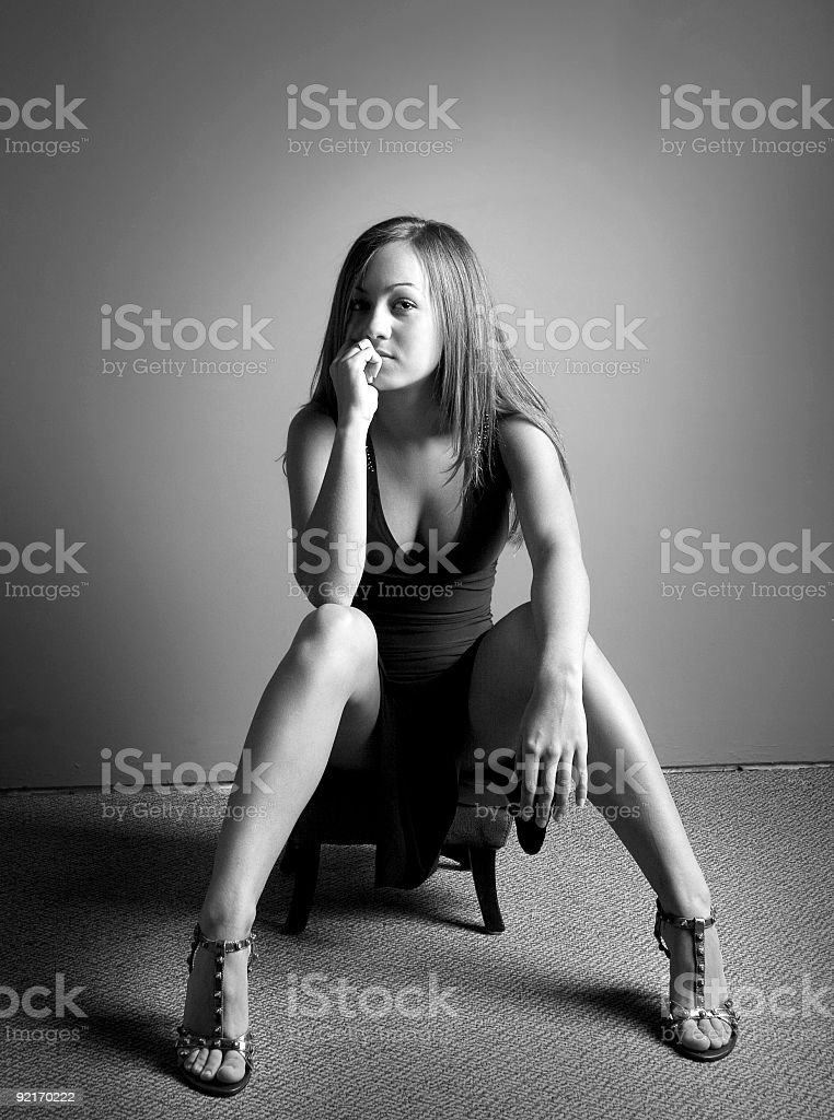 she's got legs stock photo