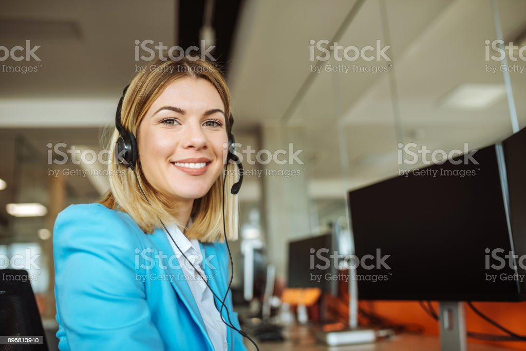 She's got plans for this company stock photo