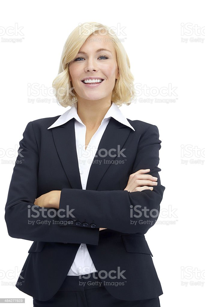 She's got plenty of corporate accumen stock photo