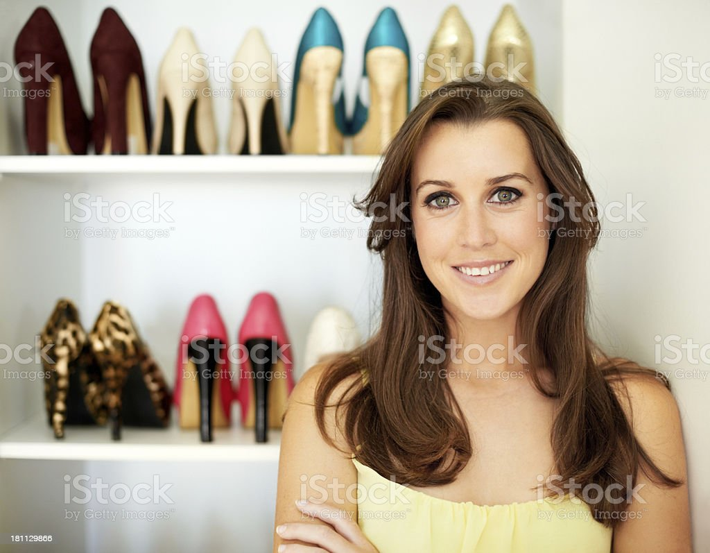 She's got style and confidence stock photo