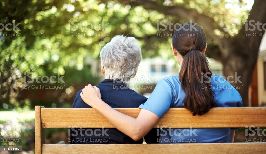She's got support on her side stock photo