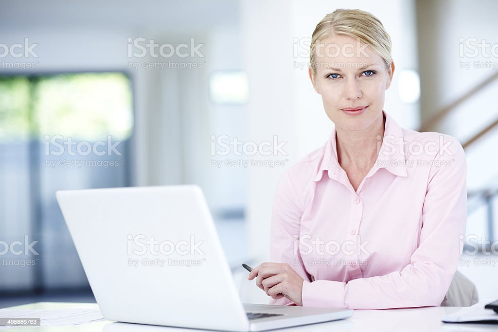 She's got the spirit of a true entrepreneur royalty-free stock photo
