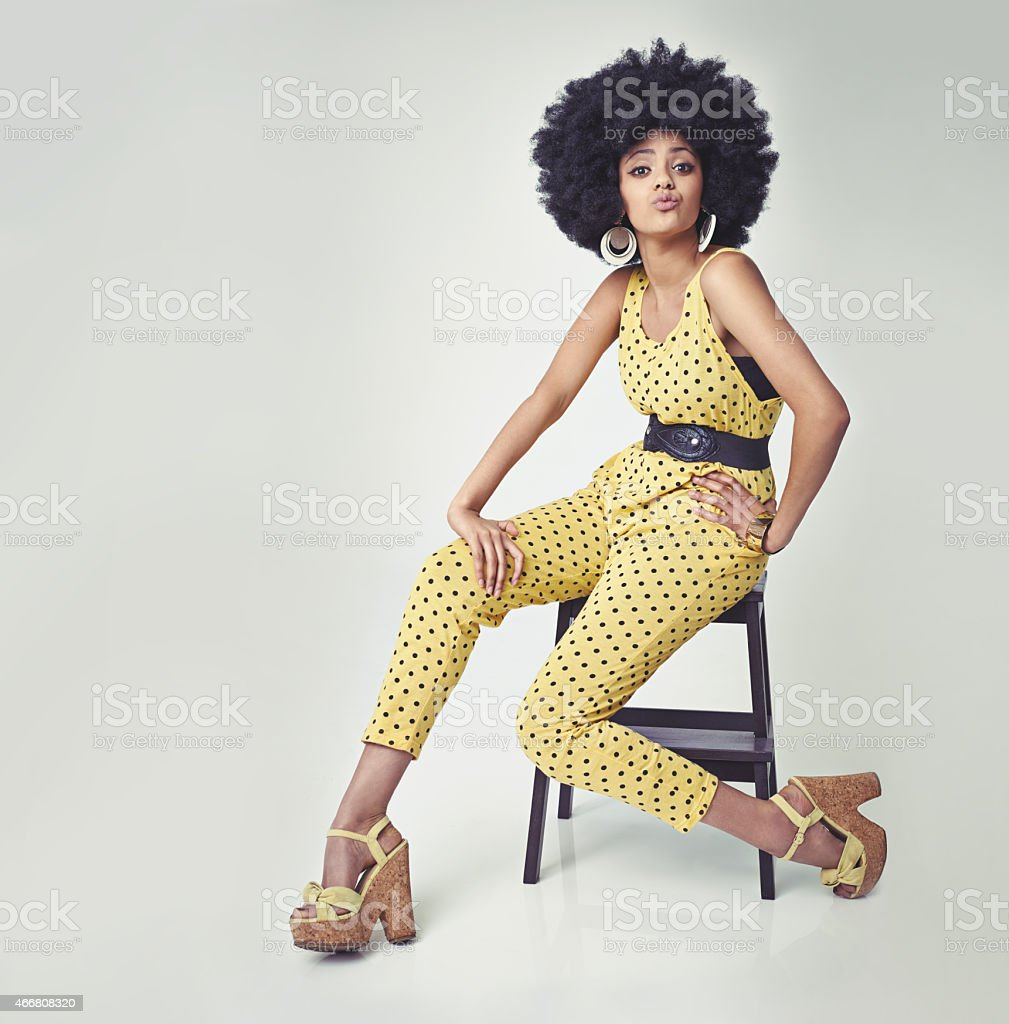 She's got va va voom! stock photo