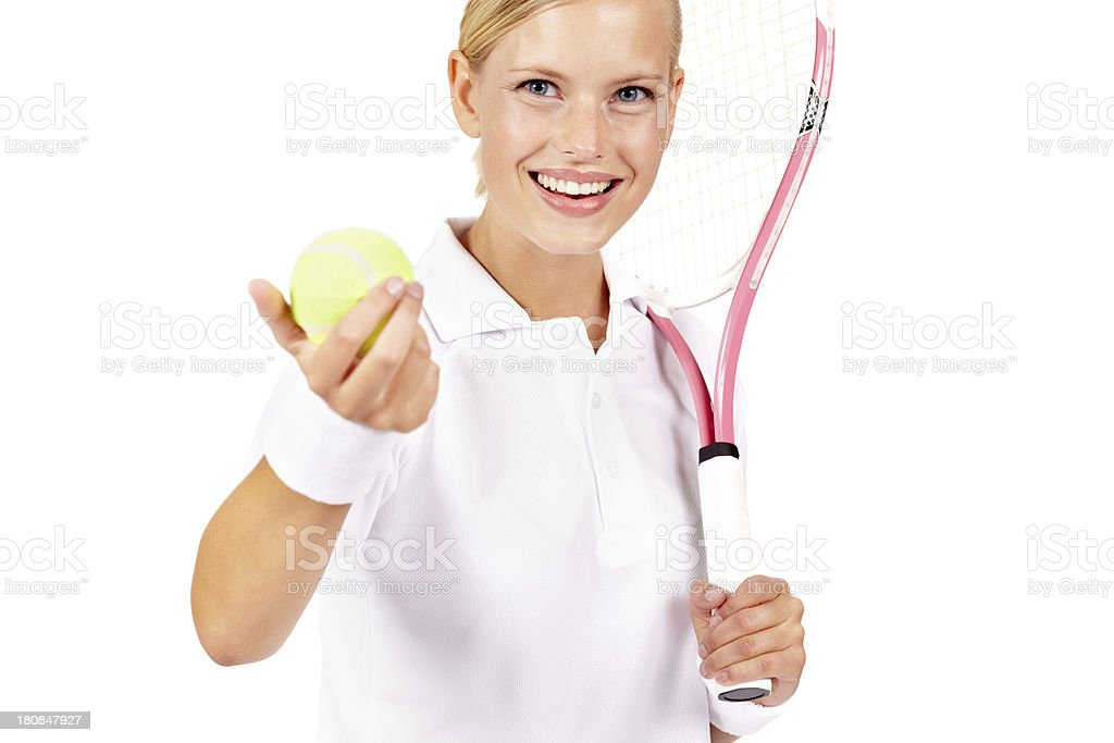 She's got what it takes to be a tennis pro royalty-free stock photo