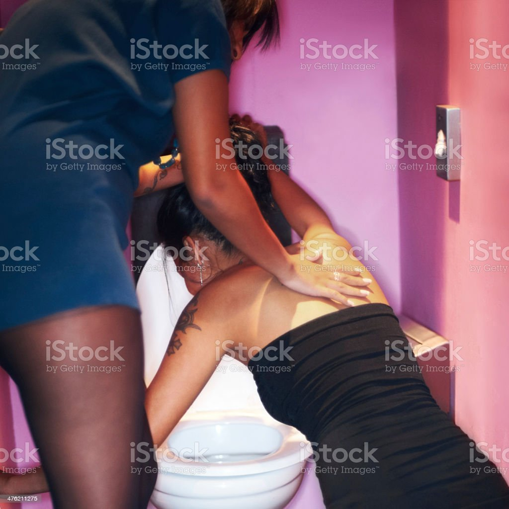 She's had more than she can handle stock photo