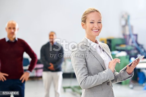 915900234istockphoto She's in charge of the factory floor 520442903