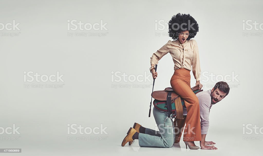 She's in charge! stock photo