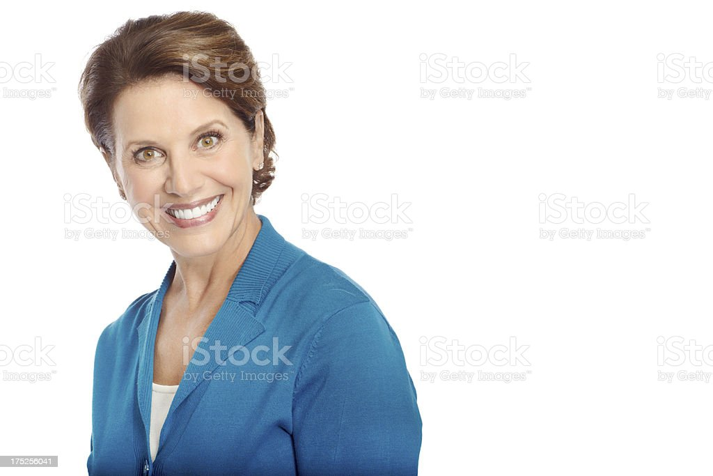 She's looking forward to a stress-free retirement royalty-free stock photo