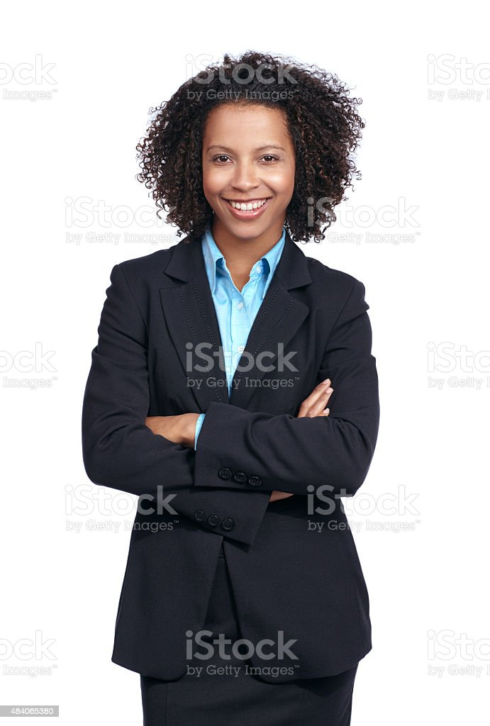 She's made a success of herself stock photo